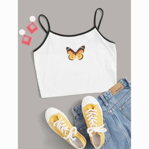 Crop top blanc papillon....  Taille L...... A5