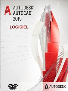 Dvd logiciel autodesk autocad 2019 multi pack de langues et add-on
