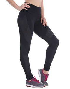 Collant de jogging noir avec grillage A8