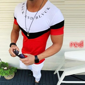 t-shirt rouge blanc taille L CA10