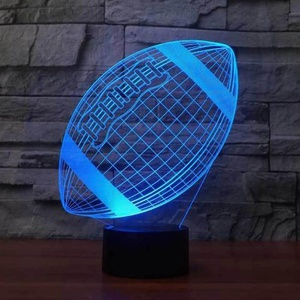 Lampe LED 3D Football Américain