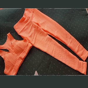 Ensemble Sport Legging, Couleur Orange, Taille S