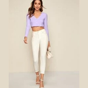 Crop top violet S A12et13
