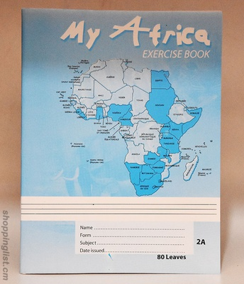 My Africa exercise book, 80 leaves