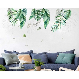 Autocollant mural amovible plantes tropicales