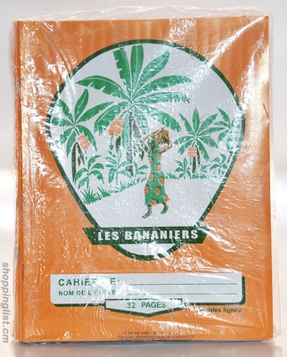 Cahier bananier 32 pages double ligne