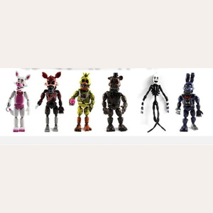 Lot de 6 Figurines Firve Nights at Freddy's