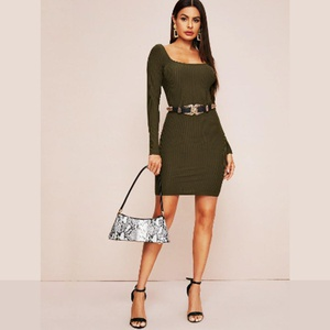 Robe Verte Longue Manche / Taille S