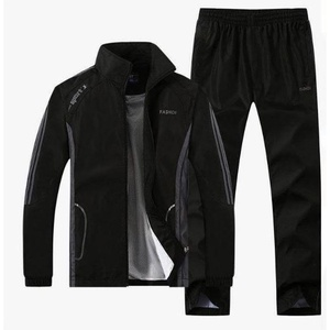 Ensemble jogging noir à traits gris - Taille L