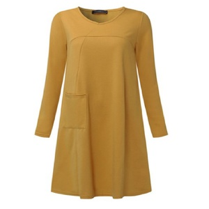 Robe jaune moutarde 3XL A5