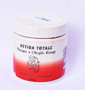 Masque  à l'argile rouge  Action Totale