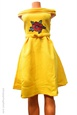 Mini robe jaune collection K.Lessman en coton lourd