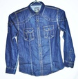 Chemise Jeans homme longues manches