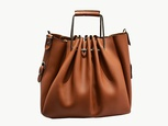 Sac à main dame en cuir marron Guess