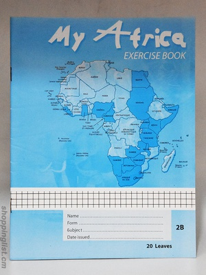 My Africa exercise book, 20 leaves