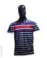 Polo homme fashion bleu blanc rouge en coton