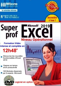 DVD Multimédia - Super Prof Excel 2019 - 12h 48 min.