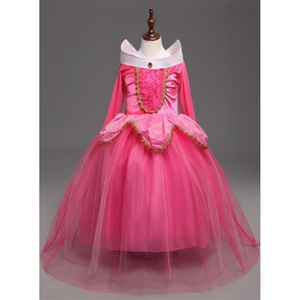 Robe Princess Aurora rose taille 120