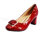 Chaussure escarpin en cuir ciré Kalu Fashion Shoes couleur rouge