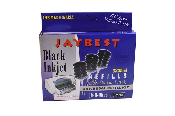 ancre jaybest BLACK INKJET MADE IN USA 3X35ml