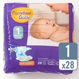Couche jetable CARREFOUR BABY Soft & Dry - 2/5 kg - 28 pcs