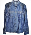 Chemise Jeans homme col mayo