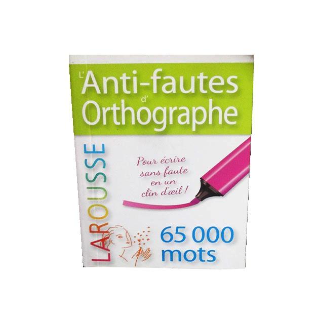 ShoppingList   L\'Anti-fautes d\'orthographe Larousse (Autres Livres)